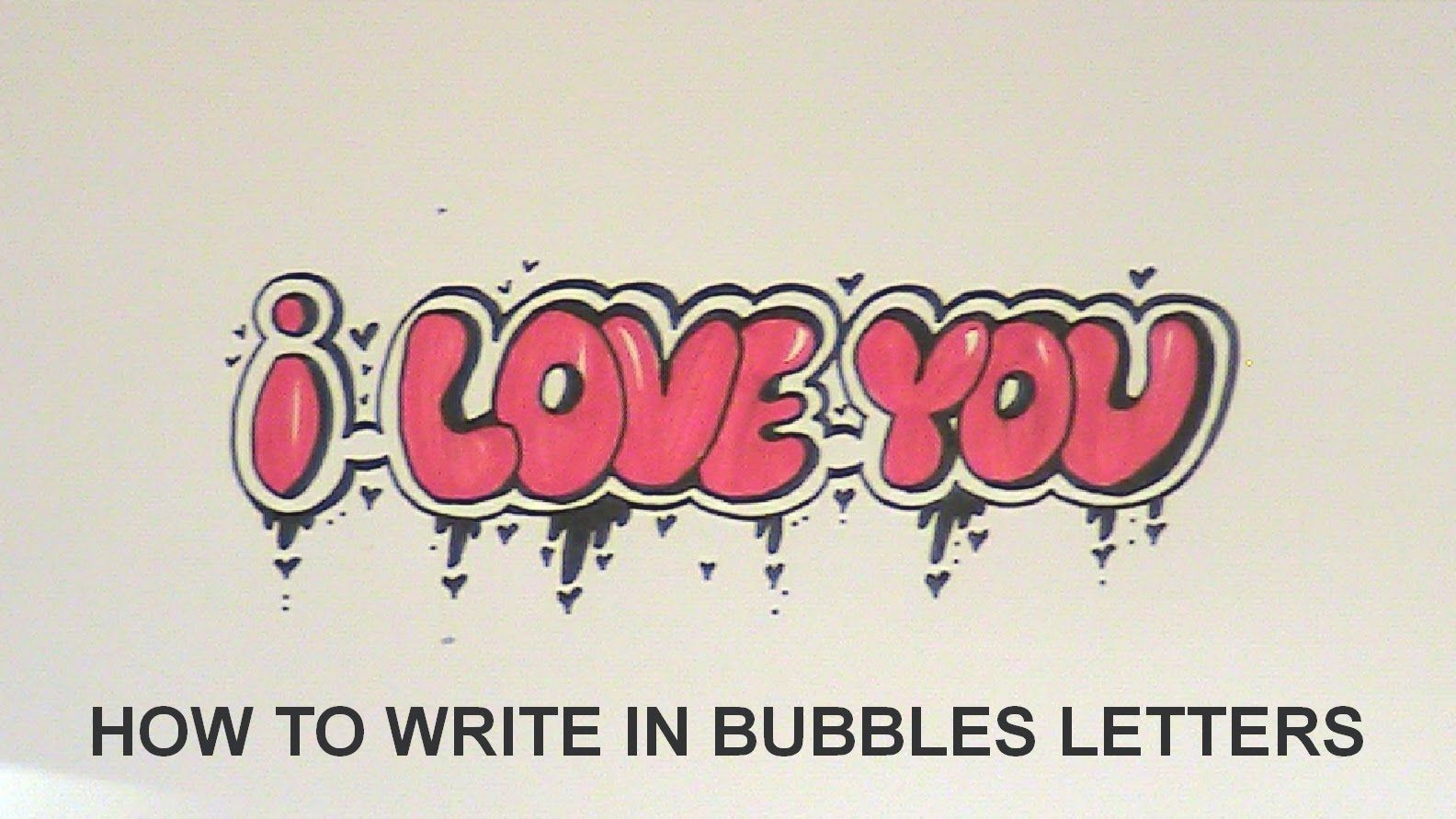 How to write in bubbles letters i love you easy version how to write in bubbles letters i love you easy version thecheapjerseys Images