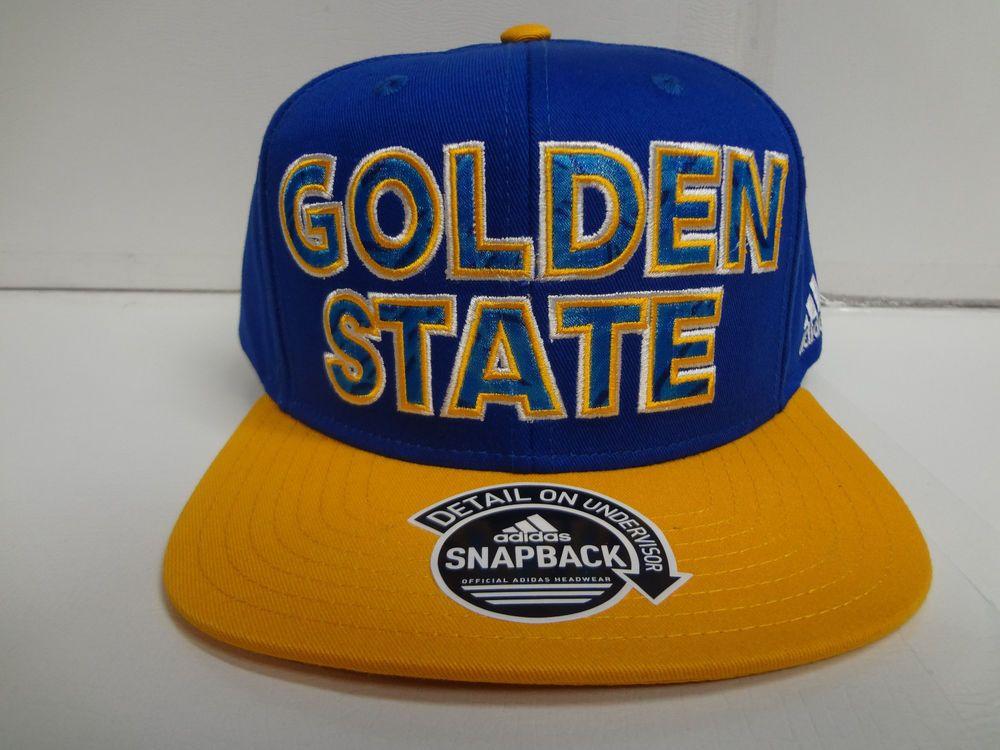 Golden State Warriors Cap Adidas Flat Brim Snapback Primal Print Hat NBA #adidas #GoldenStateWarriors