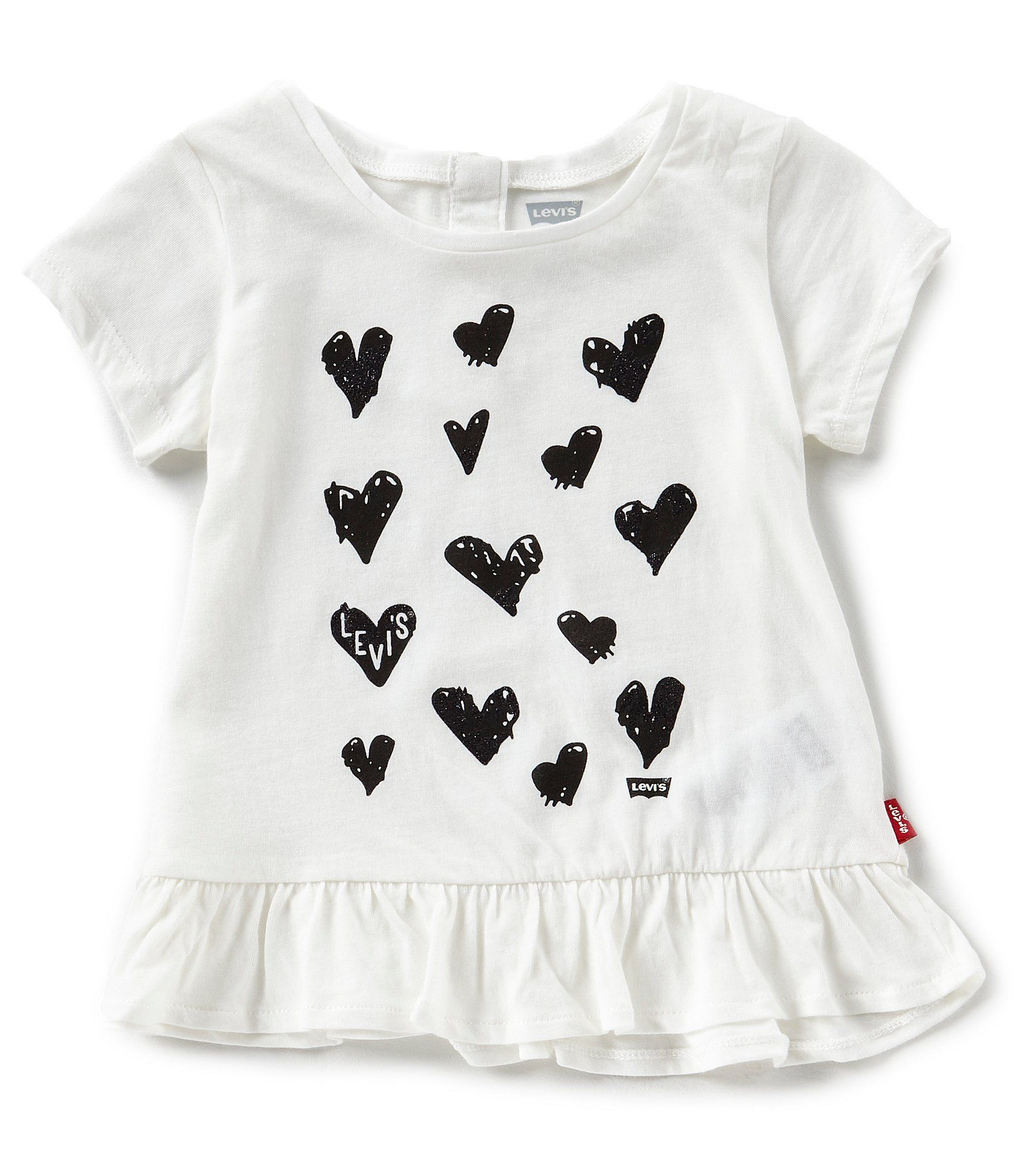 Levis Baby Girls 1224 Months HeartPrint Peplum Tee Dillards