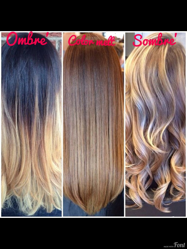 Ombre, Sombre and Colormelt? How Do They Differ? | hair