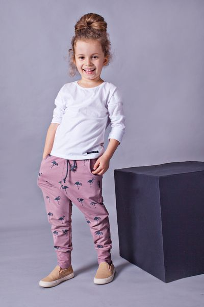e97f387bfd Hosen - Kinder-Hose Flamingos - ein Designerstück von mamatu bei DaWanda