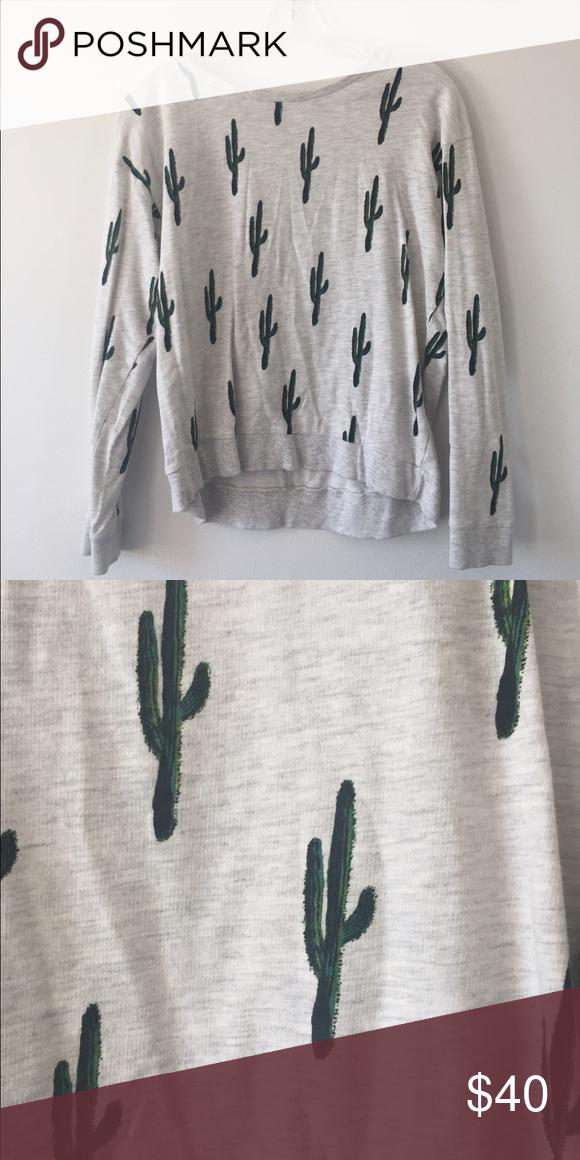 H M • Cactus Sweatshirt Adorable sweatshirt from h m. No lowballs- not even  sure I 4bd9700f7