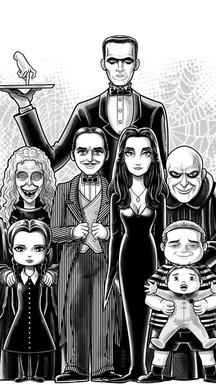 Familia Adam La Familia Addams Monstruos Clasicos Arte De Tim Burton