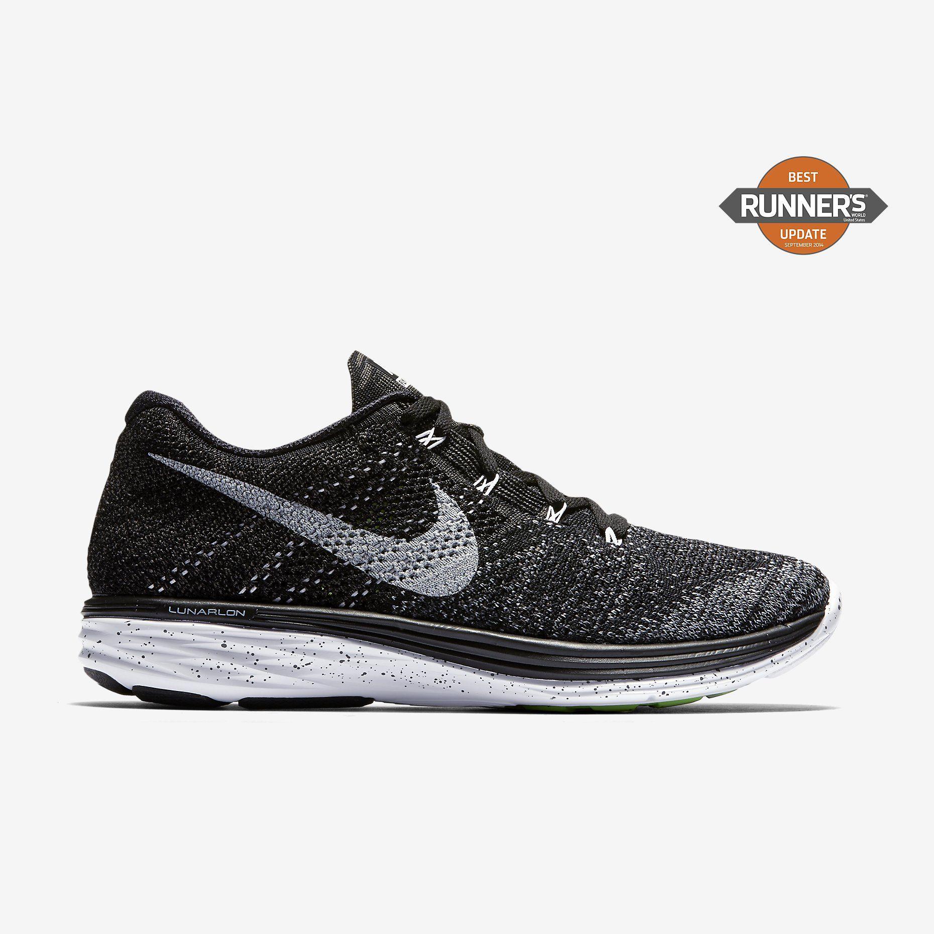 Nike Flyknit Lunar 3 $150 BlackMidnight FogWolf GreyWhite
