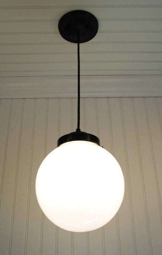 Winterport Milk Glass Pendant Light Large Globe By Lampgoods