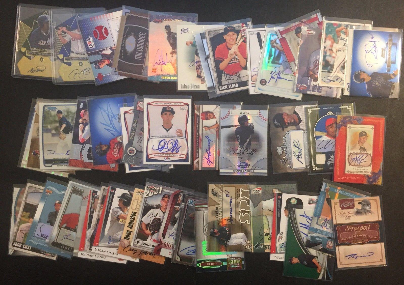@Store_Club_Fan : Baseball AUTOGRAPH 50 Card Random Lot AUTO Topps Supreme Bowman Panini Chrome https://t.co/s2Mc51T9Tq https://t.co/4E1MjPKoBv