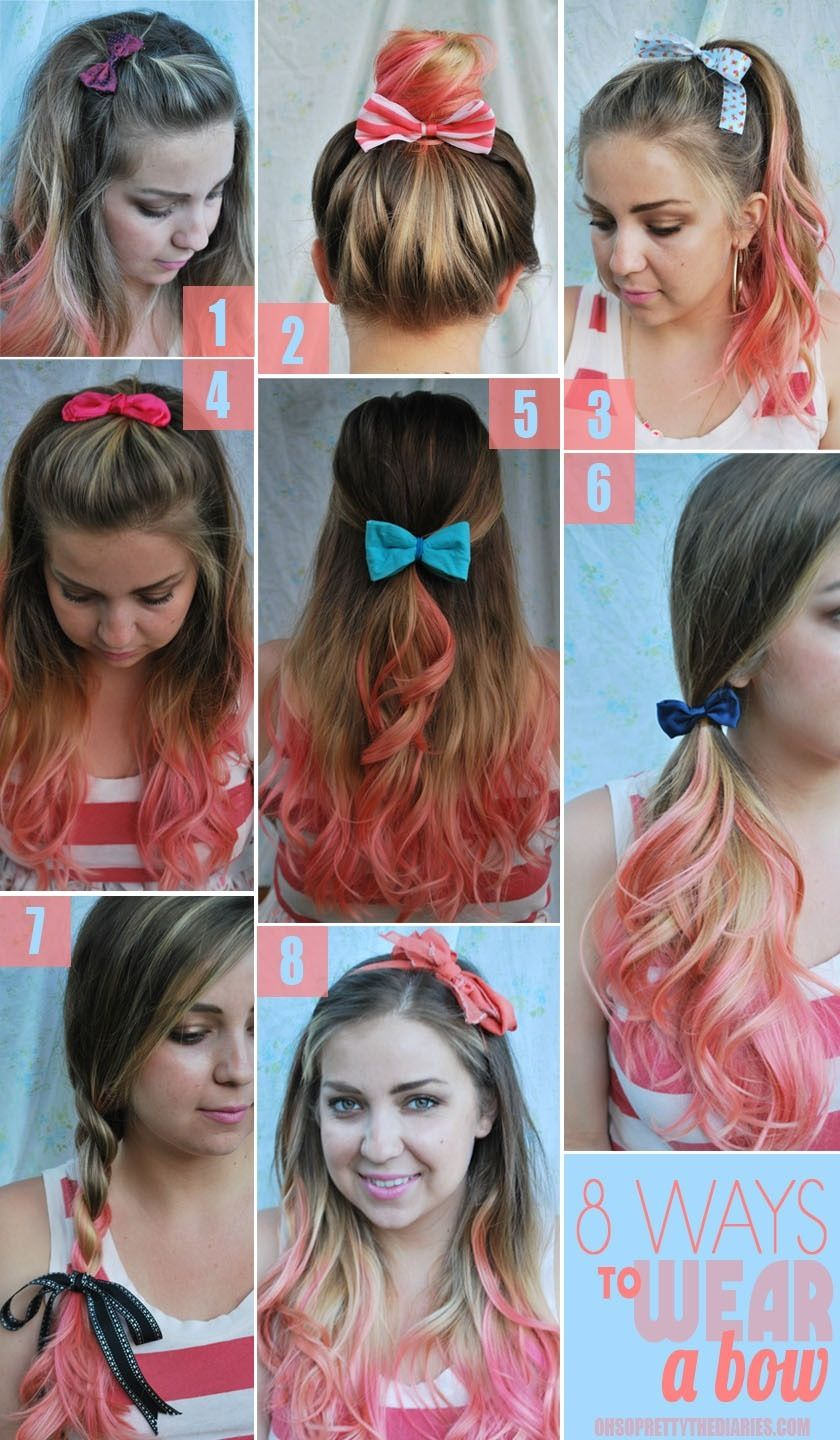 eight ways to wear a bow | hair, nails, & makeup | hair