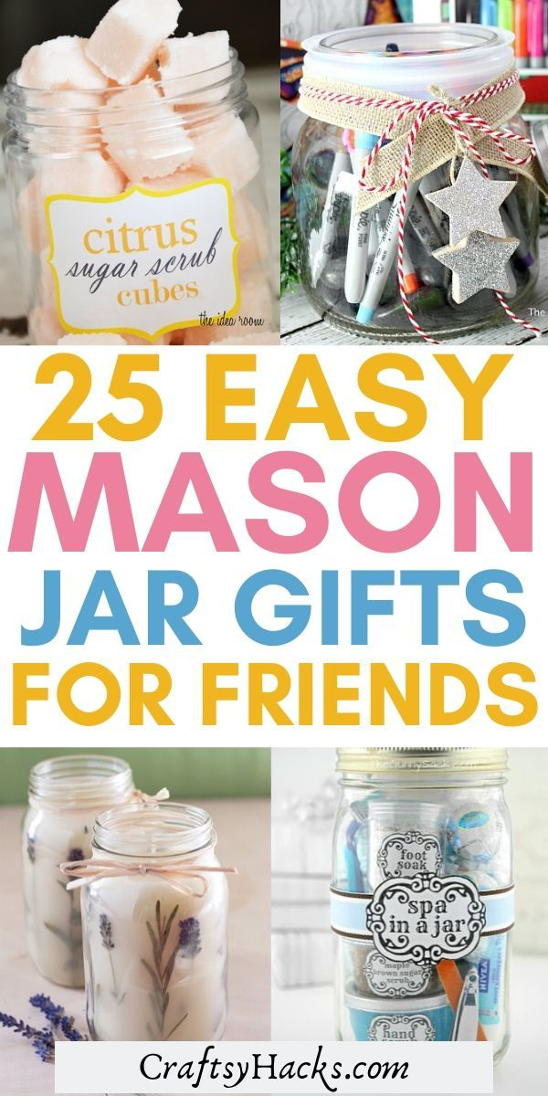 25 Craftsy Mason Jar Gift Ideas for Loved Ones - Craftsy Hacks