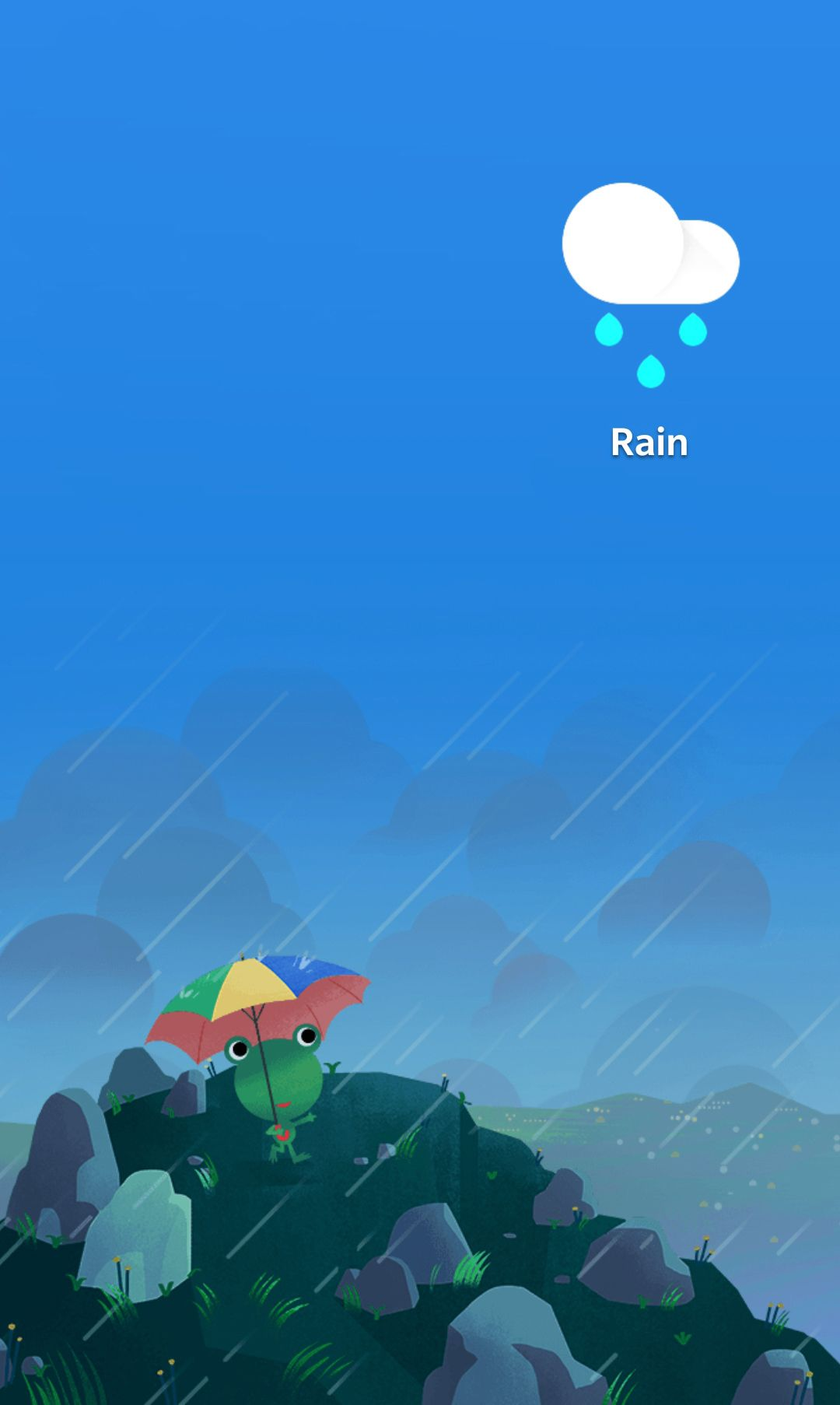 Google/Android weather frog rain Google weather, Frog