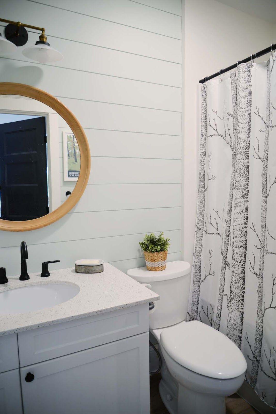Modern cottage bathroom - Modern Cottage Cabin Country Bathroom Delta Faucet Trinsic