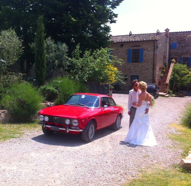 A romantic Alfa Romeo for your wedding, a real classic ...