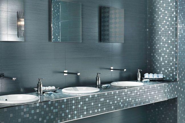 badezimmer fliesen atlas concorde mosaik waschtische spiegel effekt