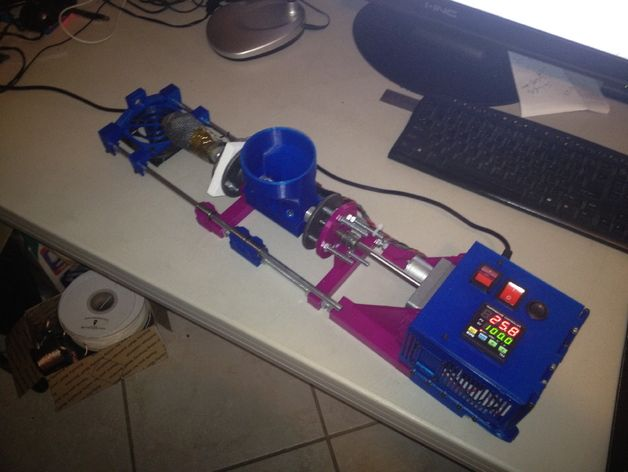3D printed Filament Extruder based on LyMan Design by ceb