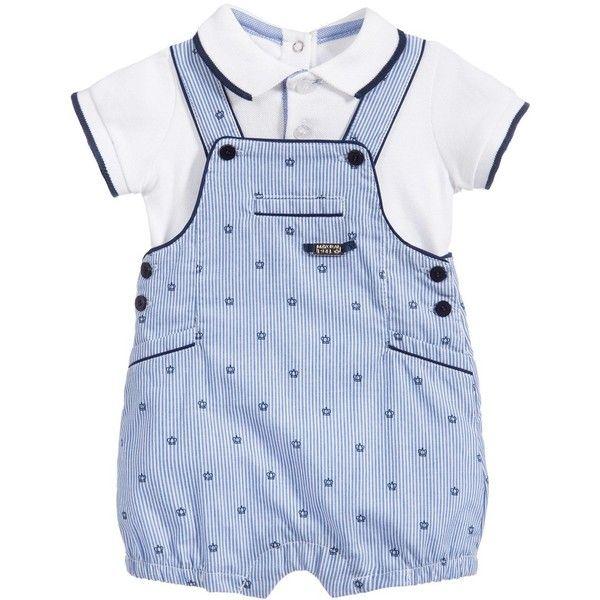 06bce9f94 Mayoral Newborn Baby Boys 2 Piece Polo Shirt Dungarees Set ( 100 ...