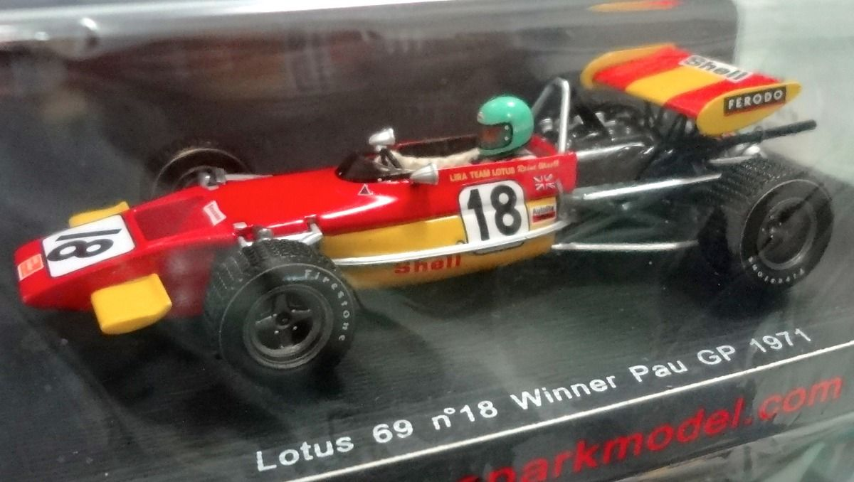 Lotus 69 (F2). Reine Wisell, winner Pau GP 1971. Spark 1/43 S2147 ...