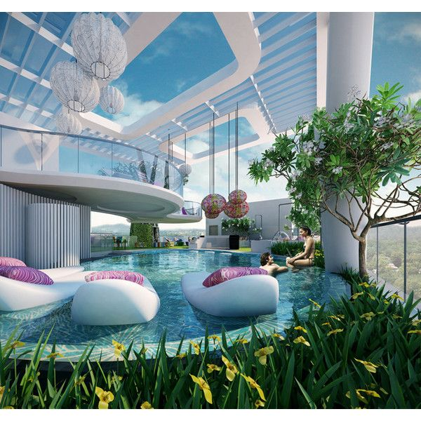 Outdoor Luxury Pool House: The Swelle Life Liked On Polyvore Featuring Rooms