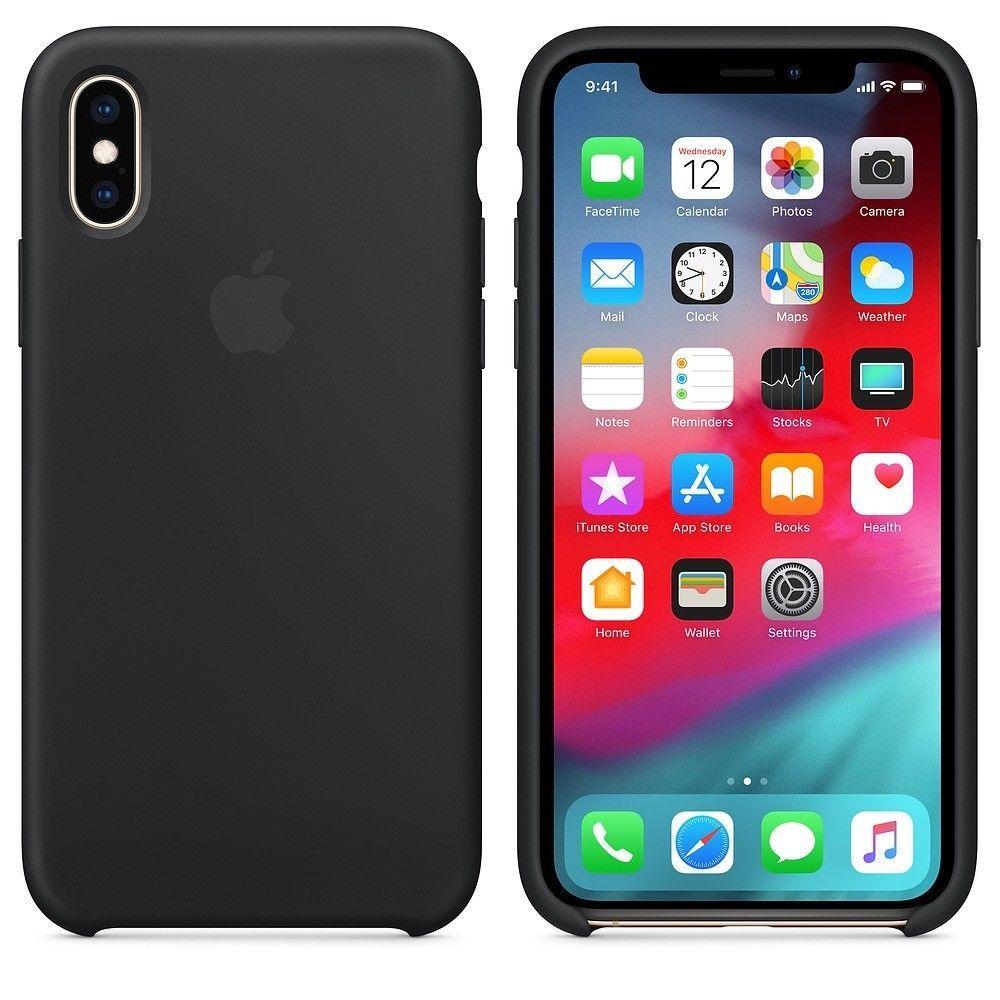 Original Apple Iphone Xs Iphone X Silikon Case Schwarz Mrw72zm A Fundas Para Iphone 5s Iphone Fundas Para Ipad