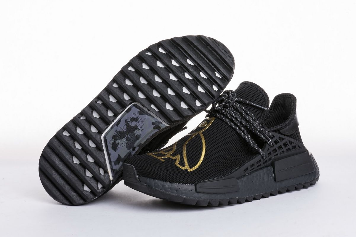 8c16d466146bc OVO x Pharrell Williams x Adidas NMD Human Race BB7603 Black Gold Real  Boost for Sale5