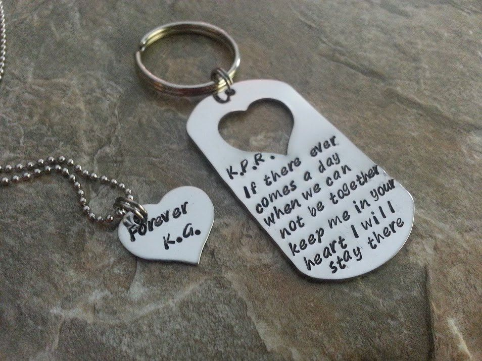 Couples Quote Hand Stamped Dog Tag Set By Mauiwauistamping On Etsy