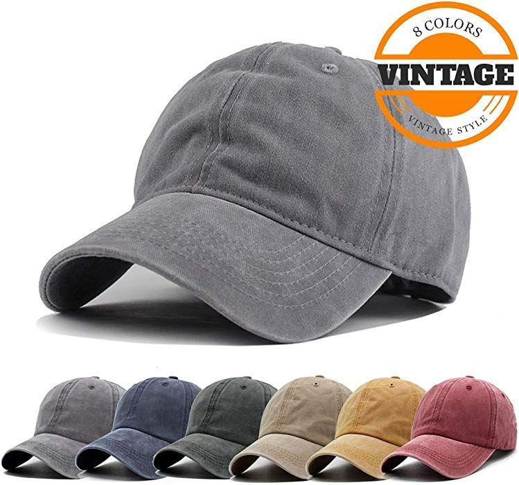 28a3af014 Unisex Vintage Washed Distressed Baseball Cap Twill Adjustable Dad ...
