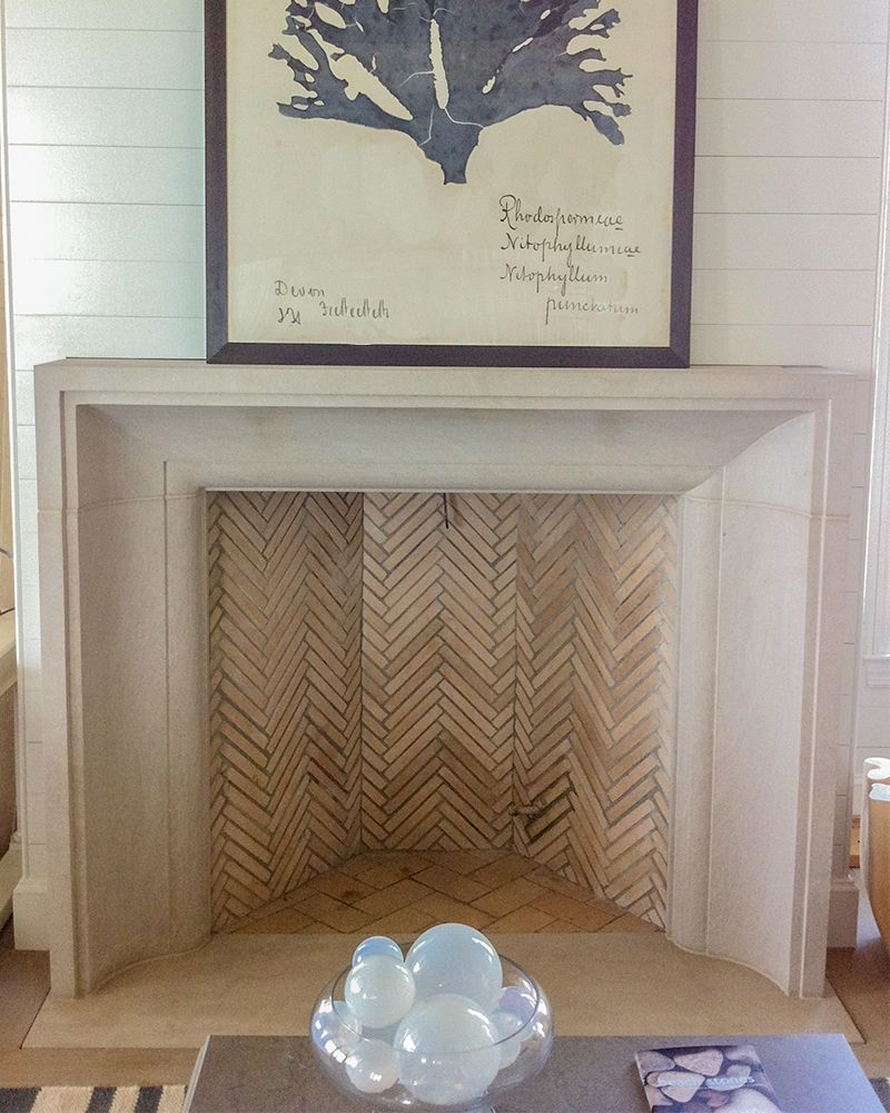 Limestone Fireplace Surround In A Beach Home Limestone