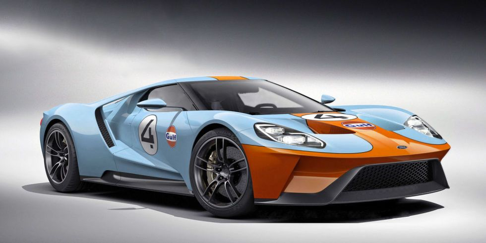 New Ford Gt Rendered In Glorious Gulf Livery Colors Ford Gt