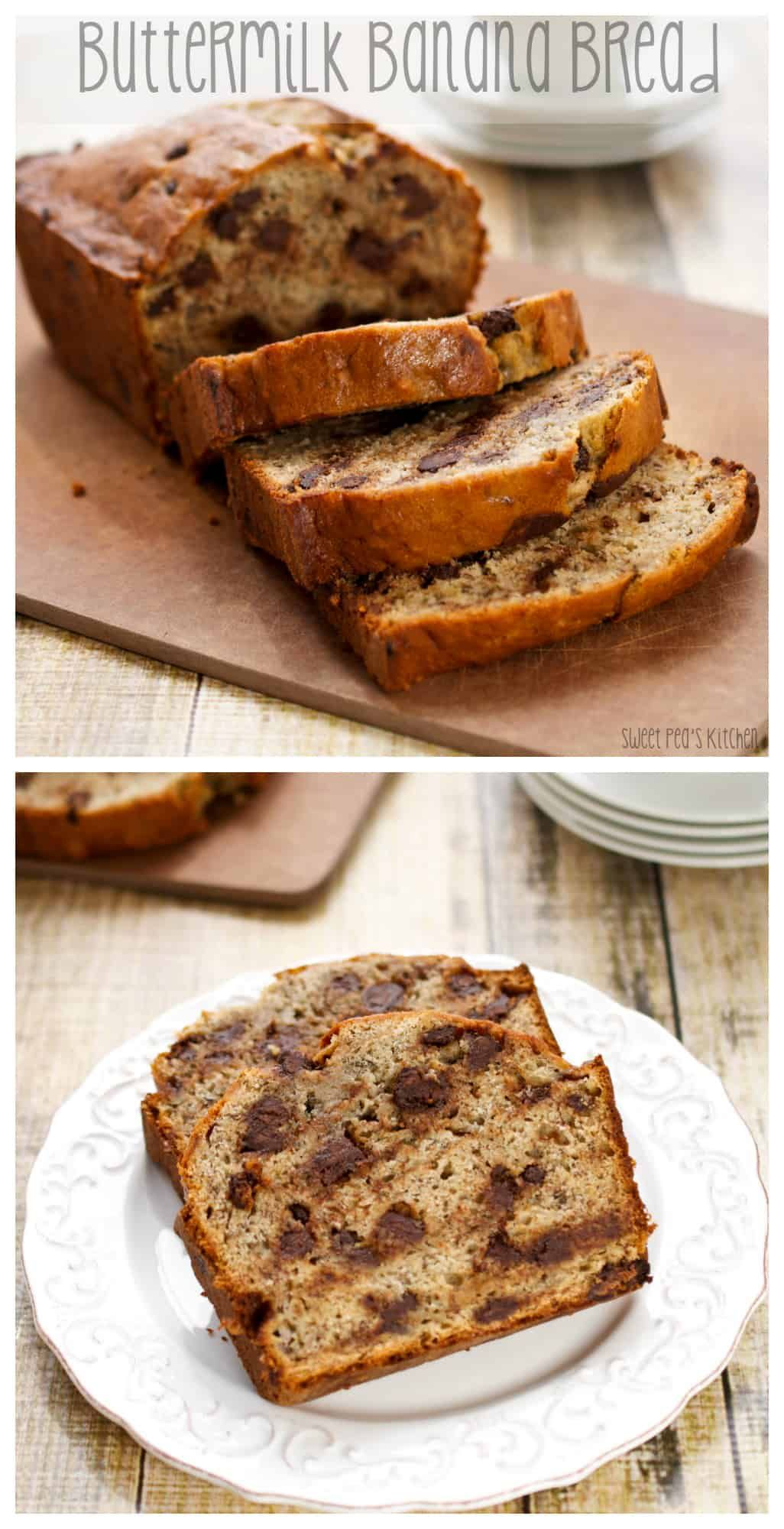 Buttermilk Banana Bread Recipe In 2020 Buttermilk Banana Bread Easy Bread Recipes Bread