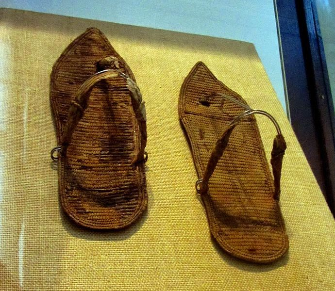 Egypt for Kids: Ponder This Photo: Ancient Egyptian Sandals - Do they look comfortable?- What sort of person wore them? - Where did they go wearing them? - Where did they buy them, in a market? Or were they custom ordered? - Use your imagination to travel back in time!