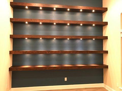 Make Your Own Floating Shelves Diy Creators Youtube Recessed Lighting Bookshelf Lighting Shelf Lighting