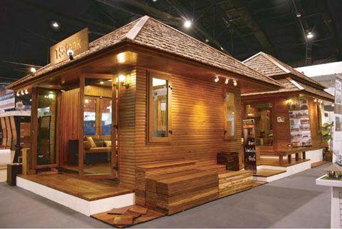 Contoh model rumah kayu minimalis modern Teras  Rumah