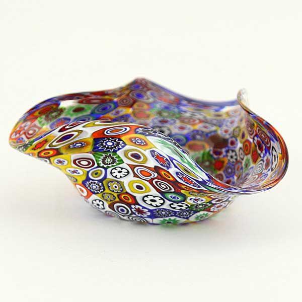Murano Millefiori Decorative Bowl Multicolor Decorative Bowls Murano Glass Vase Murano Glass