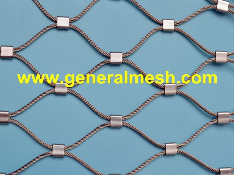 Rozsdamentes Acel Kotelhalo Muszaki Adatok Kulonbozo Kabelatmerok 1 2 4 0 Mm Kulonbozo Szembosegek 25 X 43 Mm 200 X 34 Stainless Steel Cable Zoo Metal Net