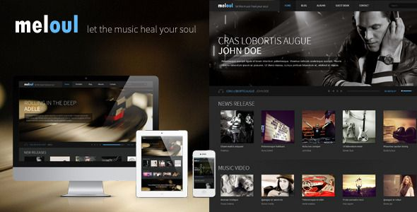 Meloul Is A Modern Html5 And Css3 Template For Music Studio And Band