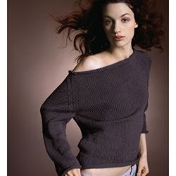 Vogue knitting, boatneck sweater pattern