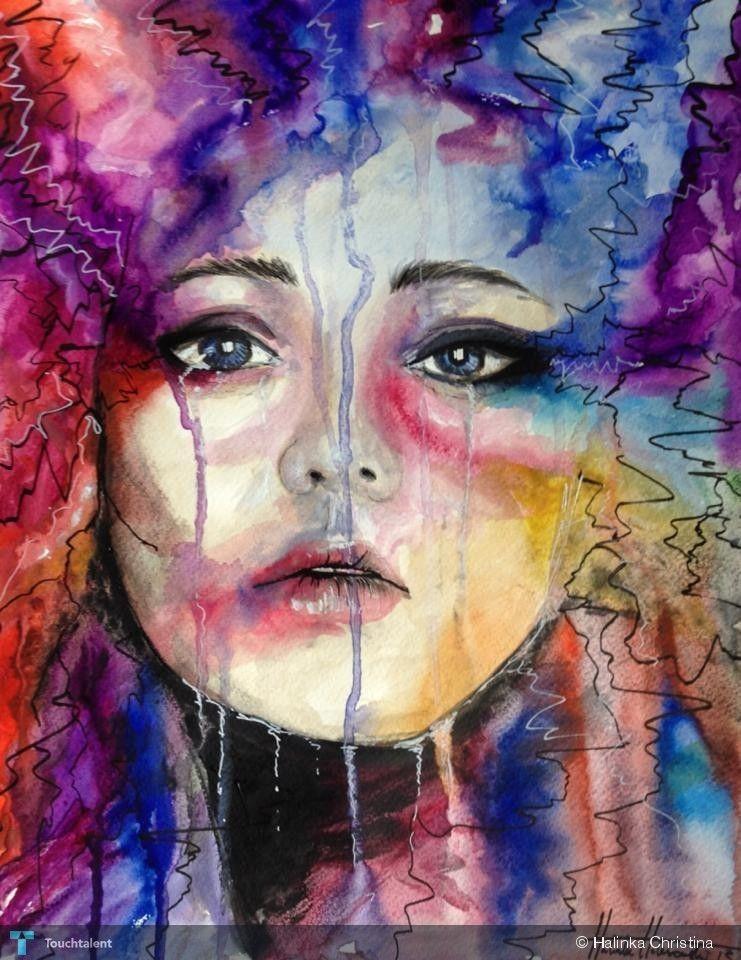 Tears Painting Colourful Tears Aquarelle Pinterest