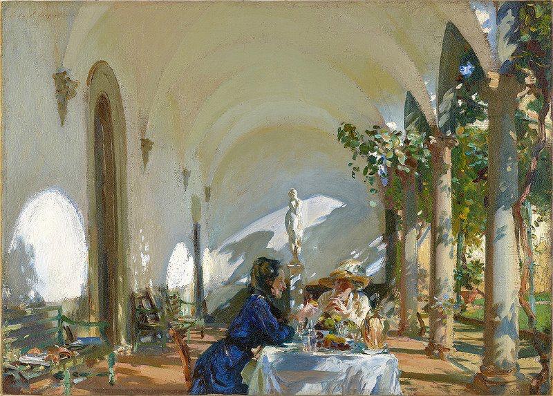 John Singer Sargent Breakfast in the Loggia 1910