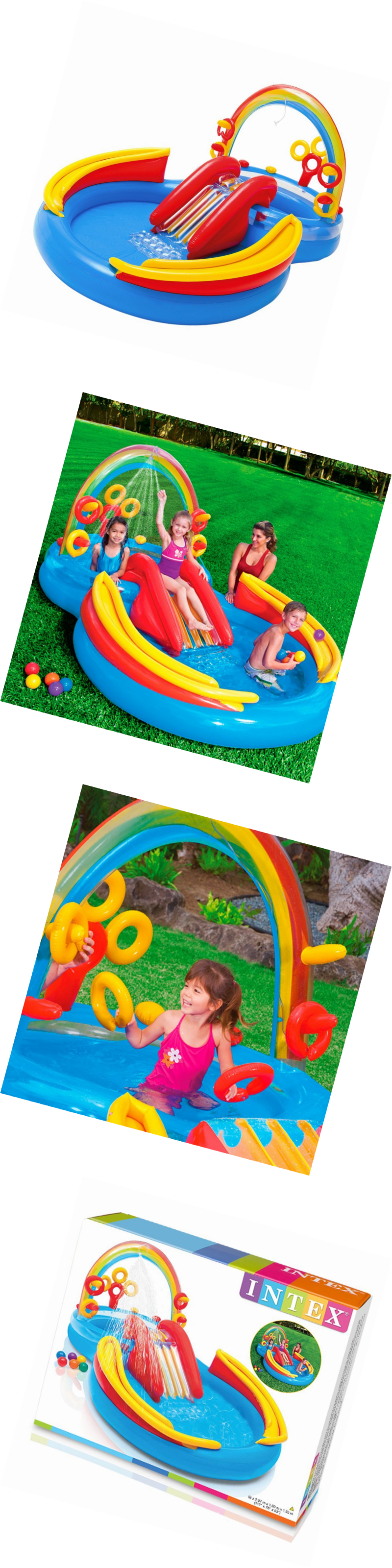 Pools Intex Rainbow Ring Inflatable Play Center 117 X 76