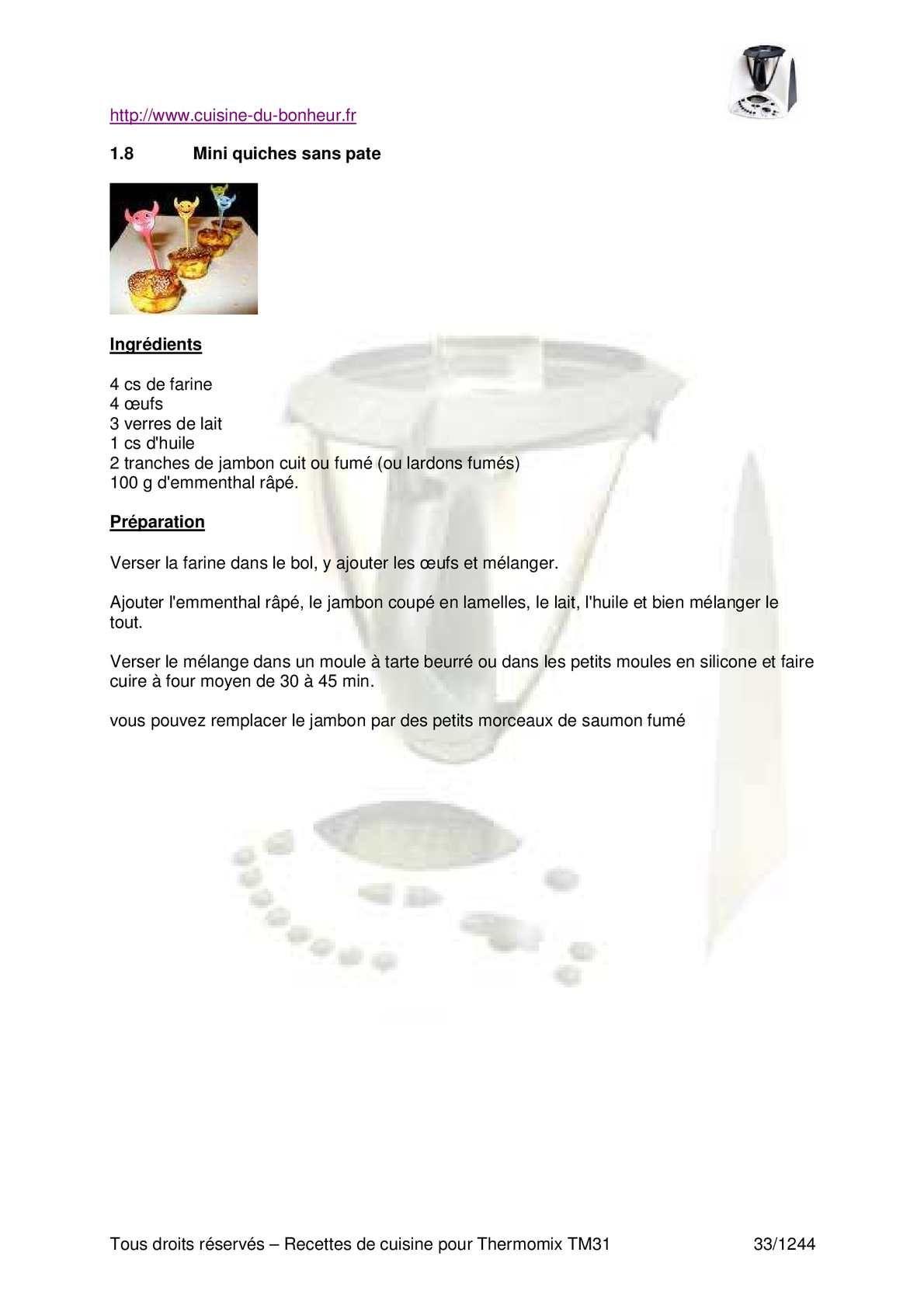 http://www.cuisine-du-bonheur.fr Tous droits réservés – Recettes de cuisine pour Thermomix TM31 1/1244