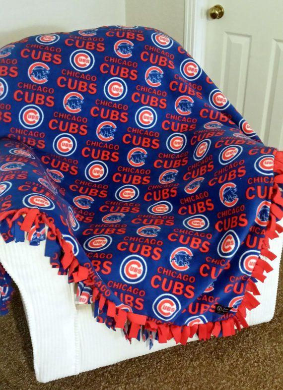 Mlb Chicago Cubs Custom Blanket No Sew Fleece Tie