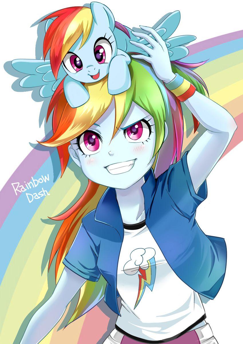 Rainbow dash pony and equestria girl my little pony pinterest anim fond ecran et dessin - Pony dessin anime ...