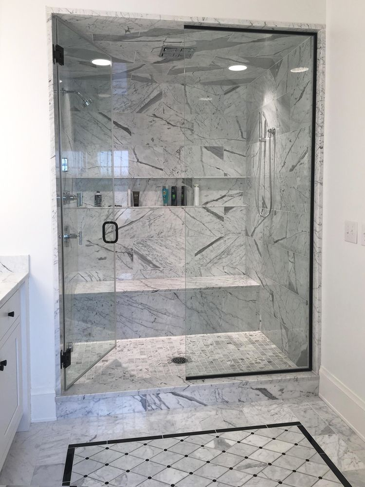 Venatino Carrara Marble Shower, Available: Http://luxepittsburgh.com/