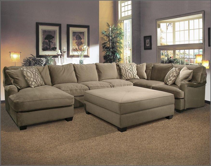 Sofa With Large Ottoman Large Sectional Sofa Sectional Sofa