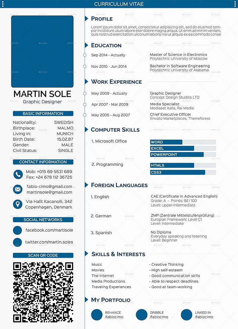 Resume With Picture Template Cv Templates 61 Free Samples Examples Format Download Free