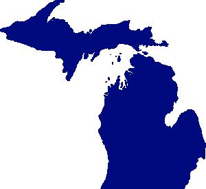 State Of Michigan Clip Art Vector Clip Art Online Royalty Free Public Domain State Of Michigan Michigan Outline Michigan