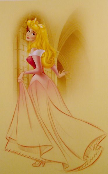 skysugar: Art of the Disney Princess  Because everyone loved the other post. Sleeping Beauty was always about the fairies, Aurora always seemed secondary to them to me. That and I preferred the blue dress on her.