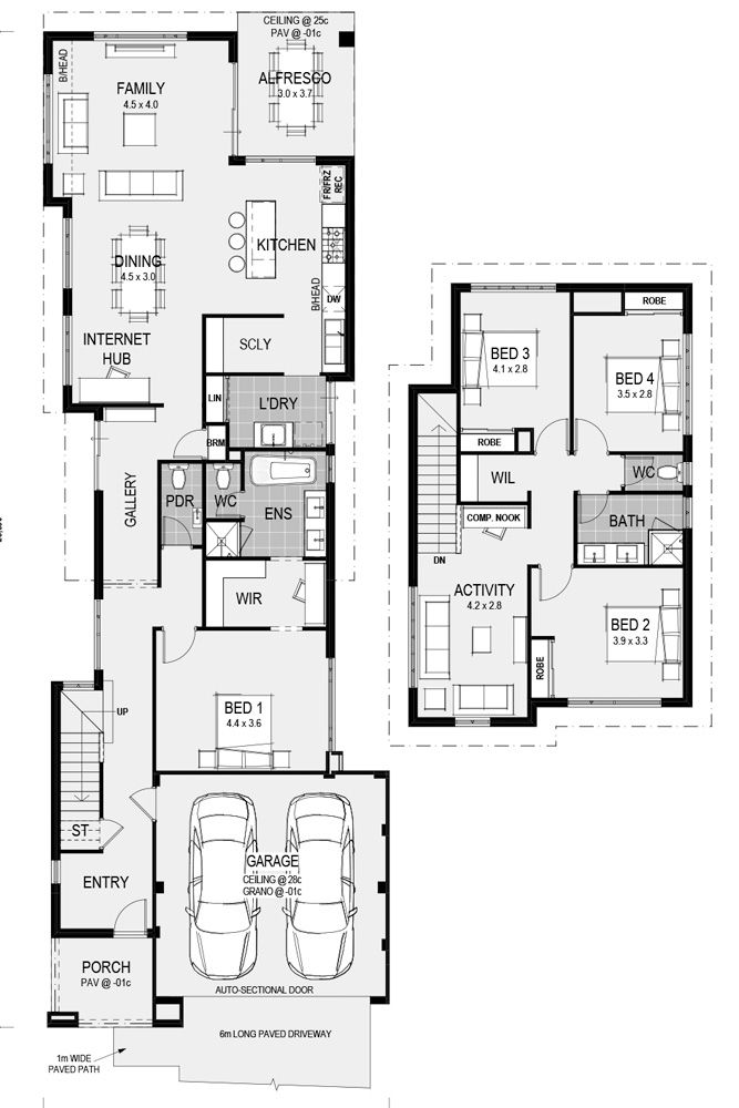 The Vercelli Two Storey Floor Plan Only At Home Group Wa Lake House Plans House Plans 2 Storey Floor Plans