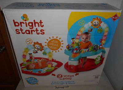 660dfca9f BRIGHT STARTS LIGHTS BABY 2 IN 1 SILLY SUNBURST ACTIVITY GYM AND ...