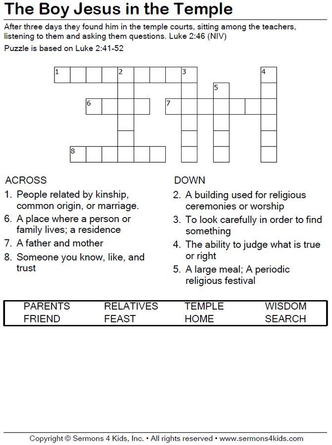 morning prayer service crossword clue