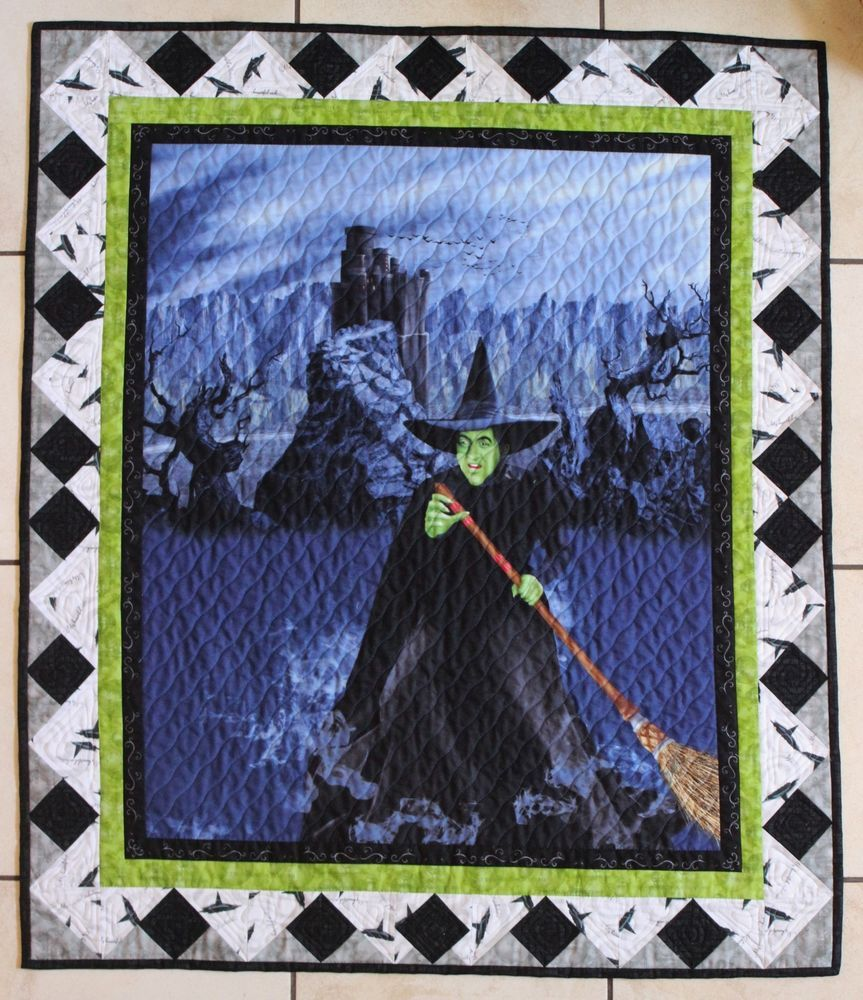 Wizard of Oz Wicked Witch 75th Anniversary Pieced Quilt Handmade ... : quilts by the oz - Adamdwight.com