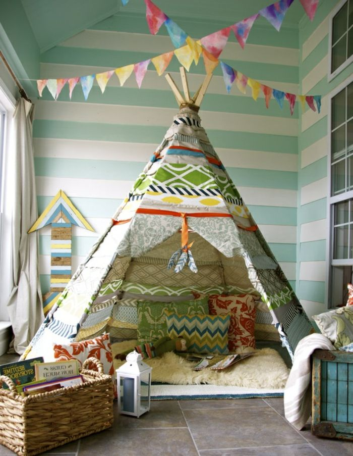 artistisches kinderzimmer tipi zelt kaufen originelle idee. Black Bedroom Furniture Sets. Home Design Ideas